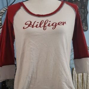 Tommy Hilfiger 3/4 Sleeve Top sz M, Thrifted